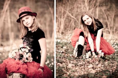 Kinderfotografie im Wald