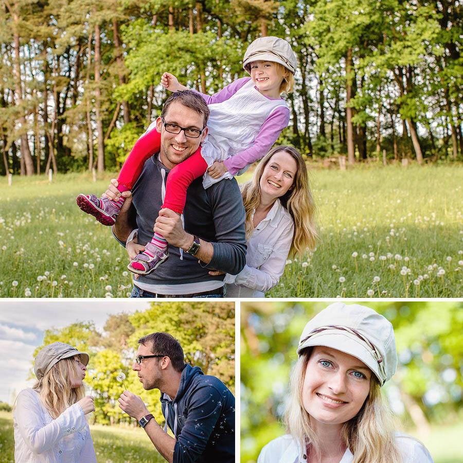 ungezwungene Familienfotos in der Natur