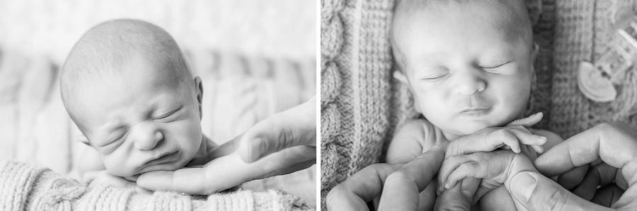 klassische schwarz weiß Babyfotos