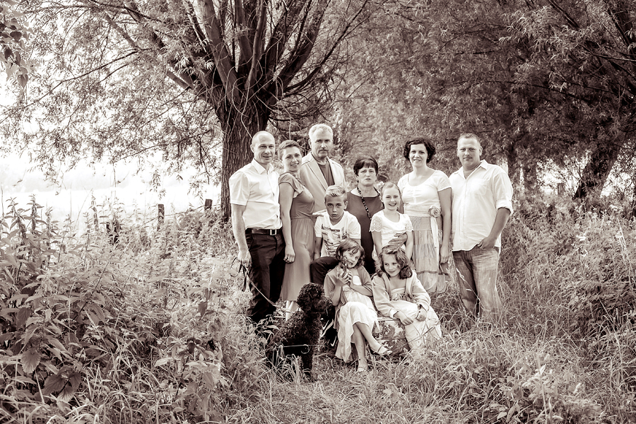 Gruppenbild in der Natur, Fotograf Paderborn