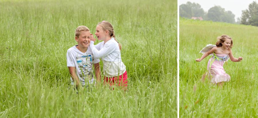 Geschwisterbilder auf der Wiese