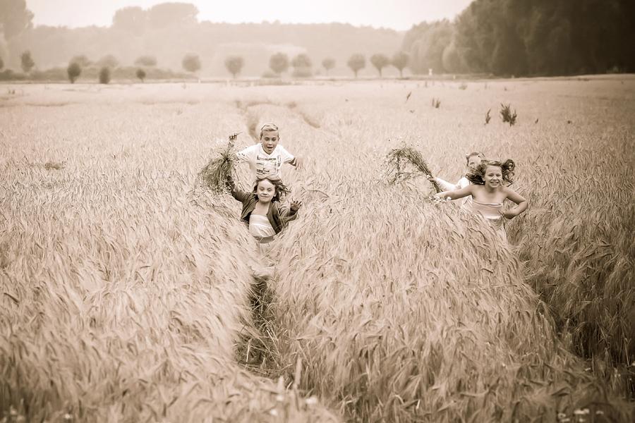 natürliche Fotos im Feld, Familienfotografie Paderborn