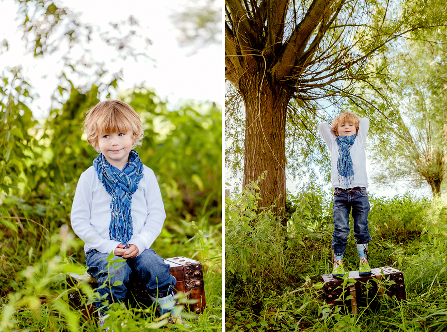 Kinderfotos in der Wiese