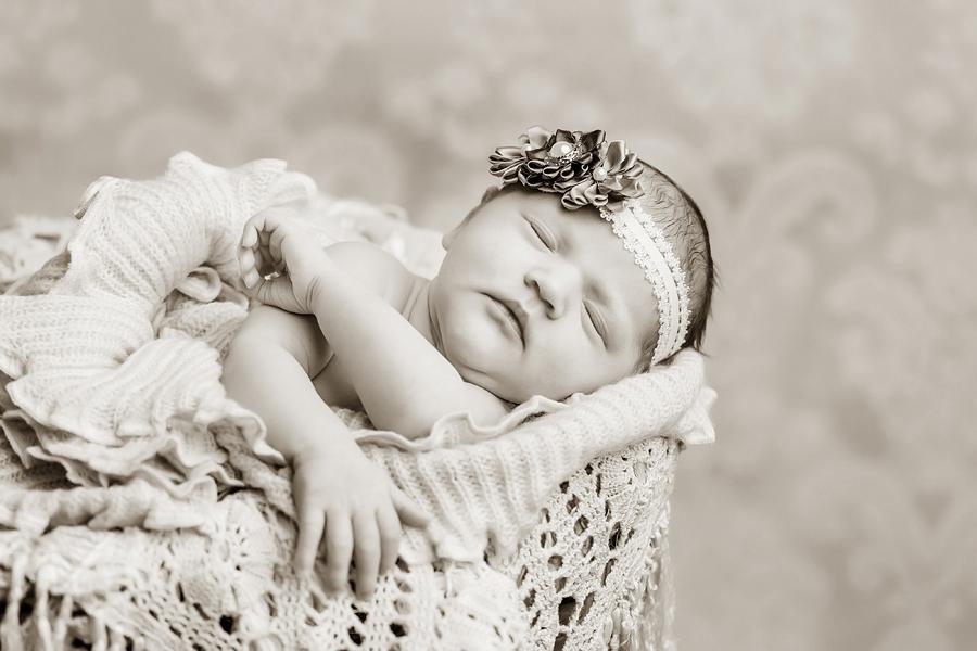 Babyfotografie Körbchen