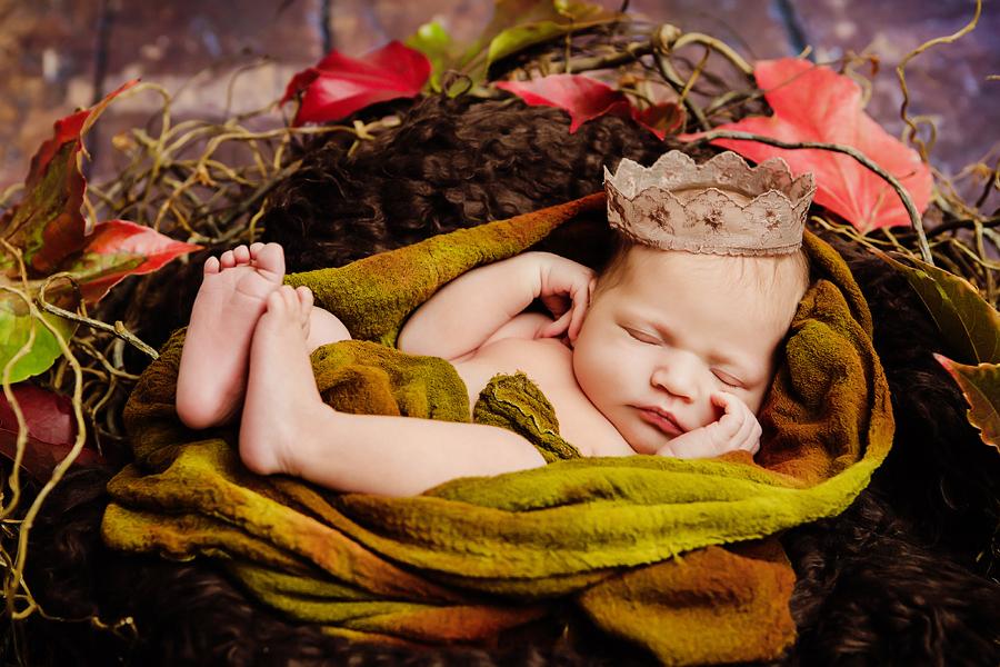 Baby im Studio Herbst
