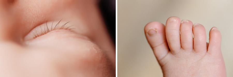 Details Füßchen und Wimpern vom Baby