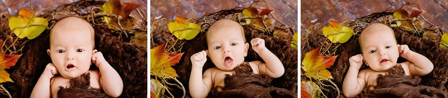 Gesichter des Babys