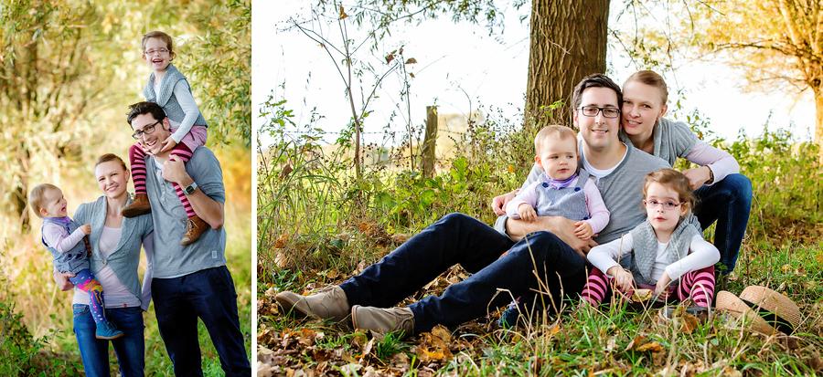 zeitgemäße Familienfotos