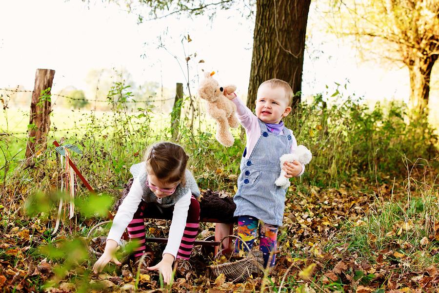 Kinderfotos draußen