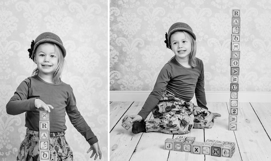 entspannte Kinderfotos im Studio