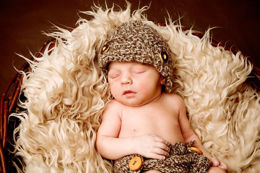 Babyfotos vom schlafenden Baby