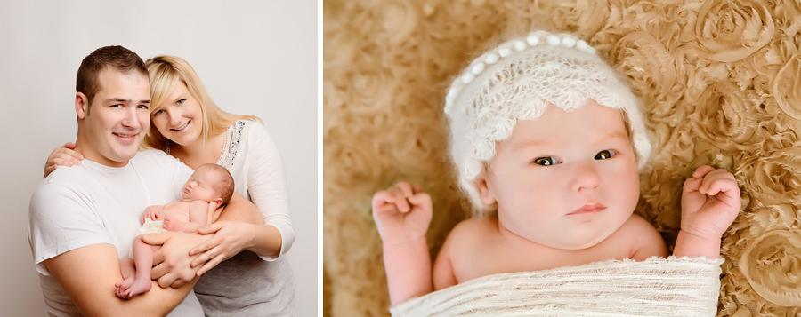erstes Familienbild mit Baby