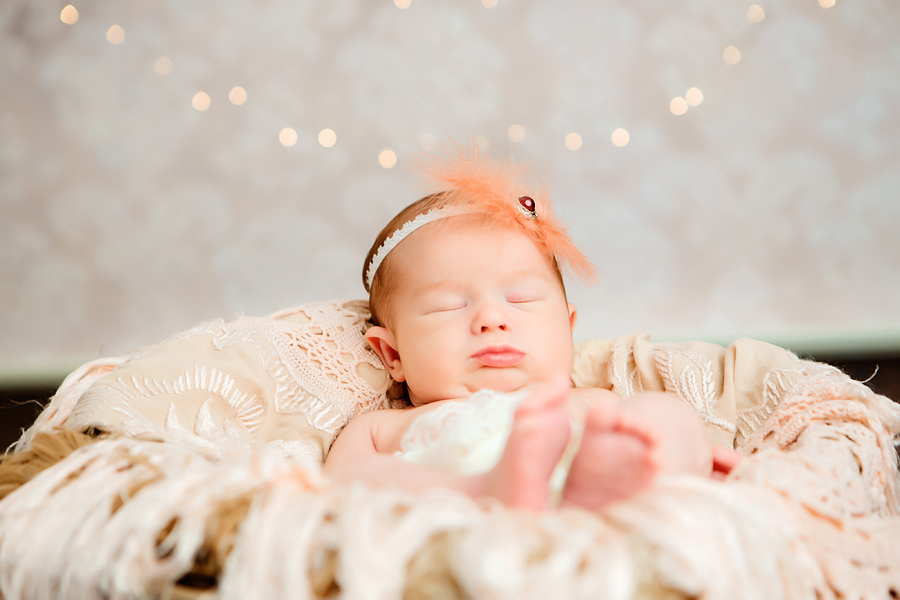 Weihnachtsfotos vom Baby