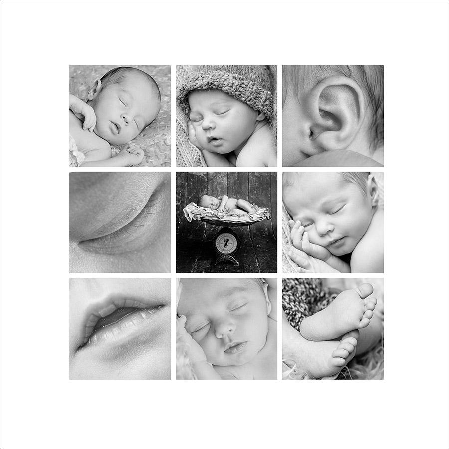 Babycollage der Details