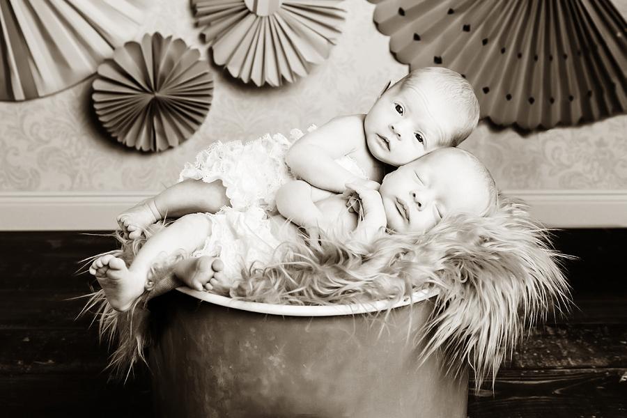 Babyfotos Zwillinge