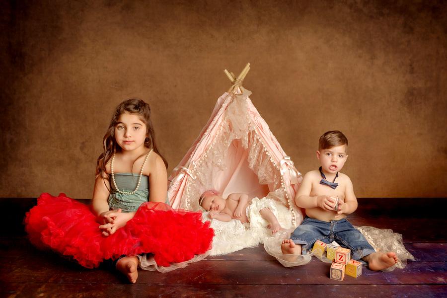 Geschwister Fotos Studiofotografie