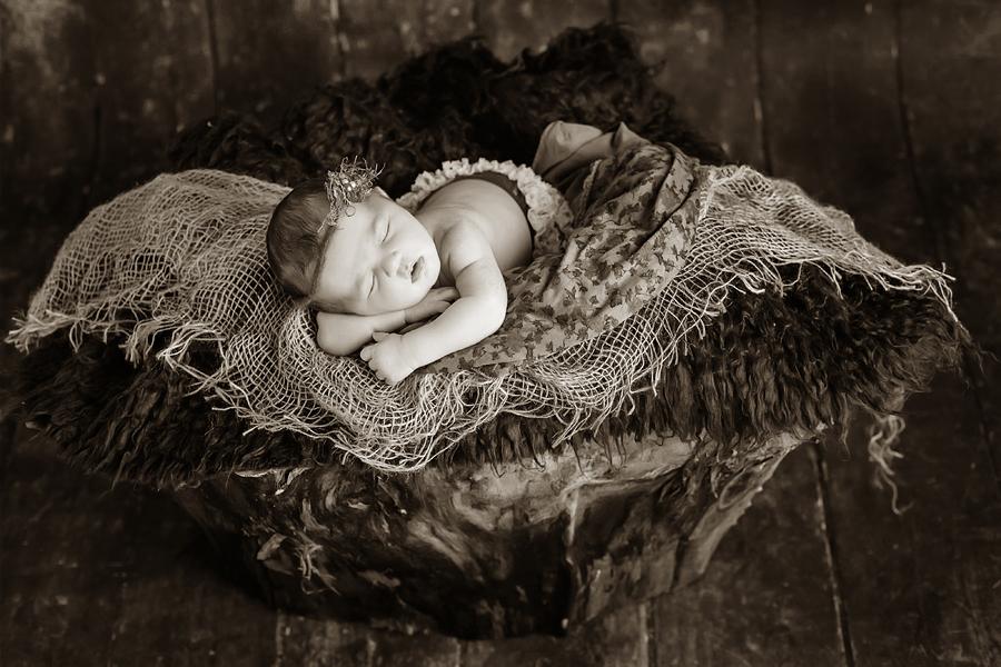 künstlerische Babyfotografie