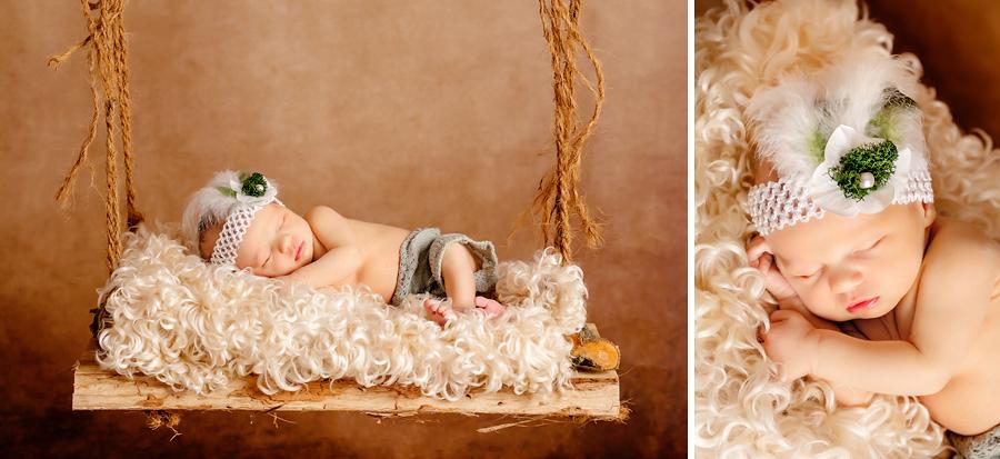 Neugeborenenfotograf, Baby Schaukel