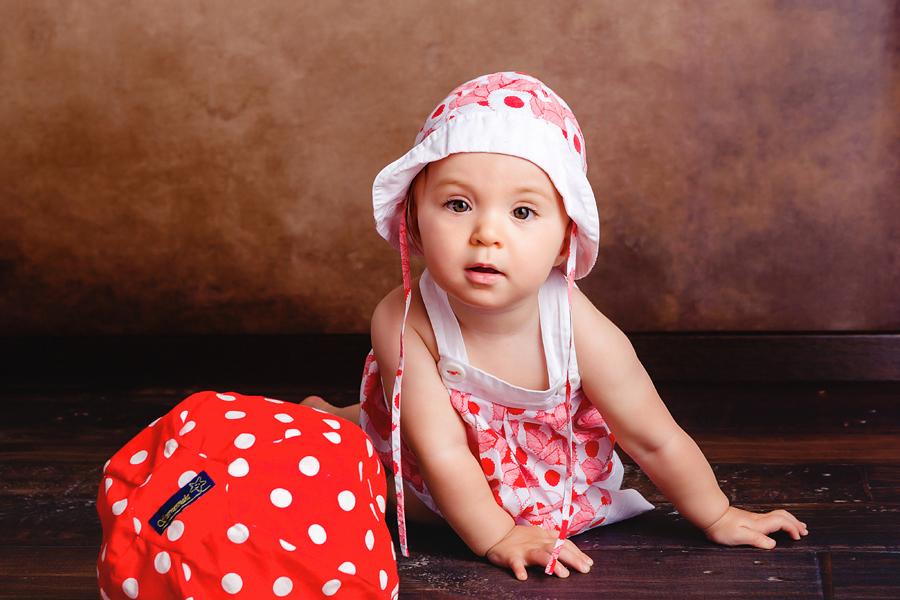 Babyfotos zum ersten Geburtstag