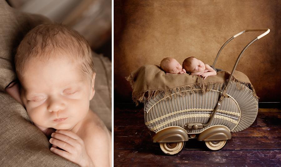 Zwillinge im Fotostudio
