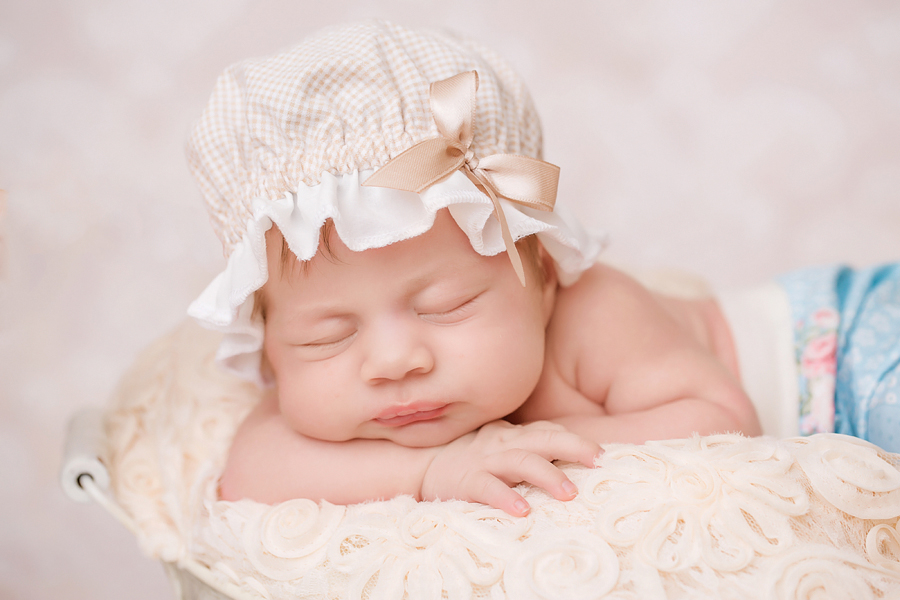 schlafendes Baby Fotoshooting